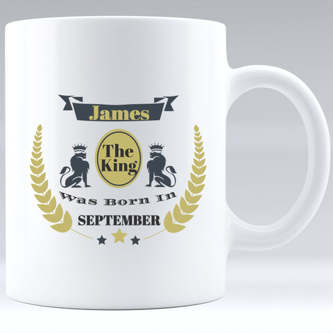 The King Was Born Mug