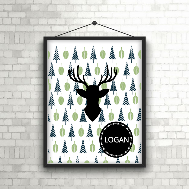 Forest Deer baby/Child Print