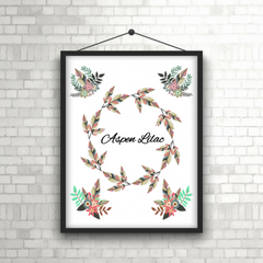 Floral Wreath Baby/Child Print