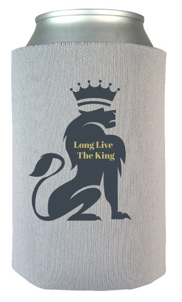 The King Was Born Koozie