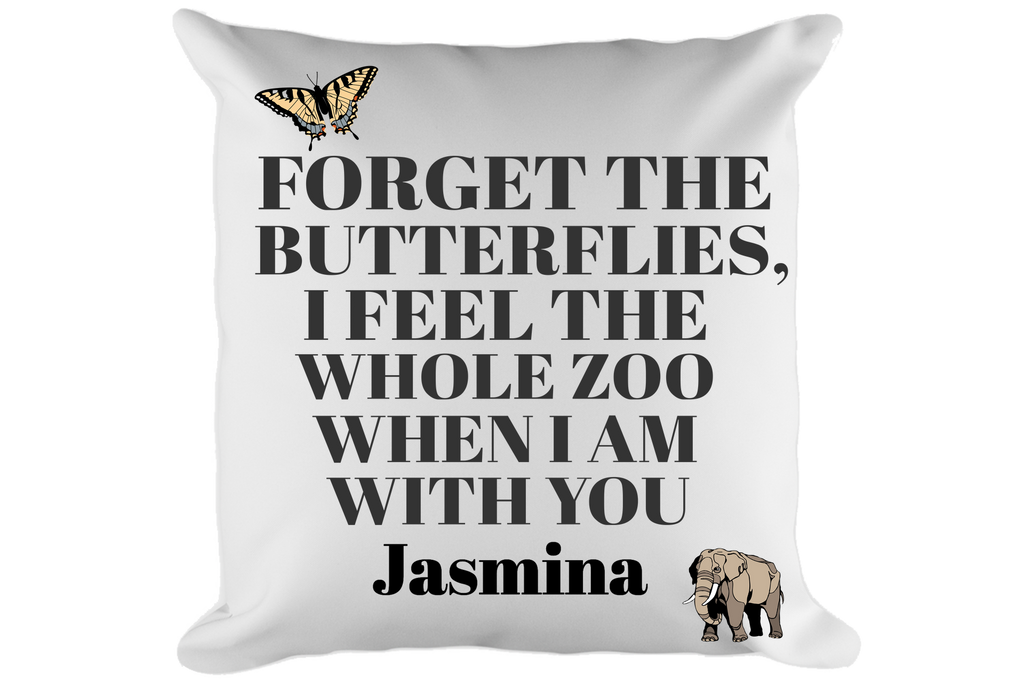 Forget the Butterflies Pillow