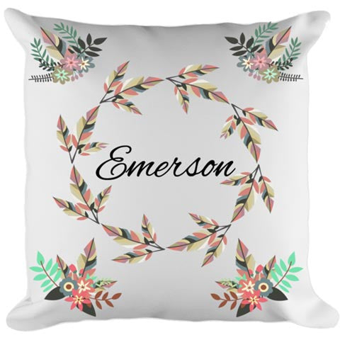 Floral Wreath Baby/Child Pillow