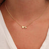 Heart-Shaped Charm & Initial Pendant Necklace