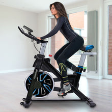 Load image into Gallery viewer, PowerTrain RX-600 Exercise Spin Bike Cardio Cycle - Blue
