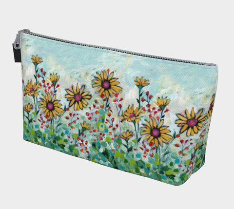 Yellow Daisies Makeup Bag - Creative Whims