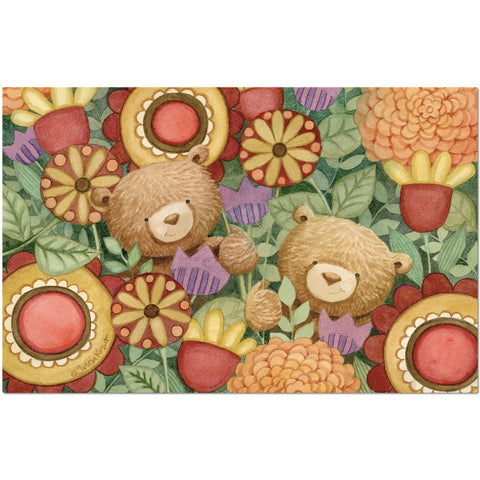 Zinnia Bears placemat - Creative Whims