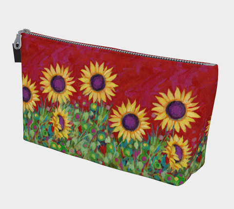 Red Sky Sunflower Makeup Bag - Creative Whims