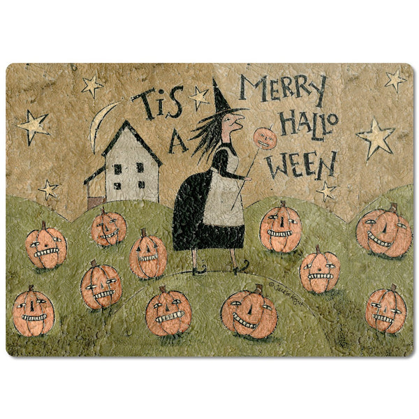 Merry Halloween Glass Cutting Board - Creative Whims