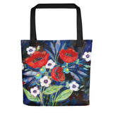 Three Red Poppies Bouquet Tote bag - Creative Whims