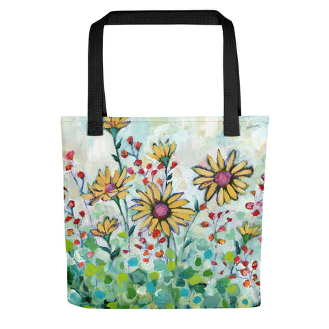 Yellow Daisy Garden Tote bag - Creative Whims