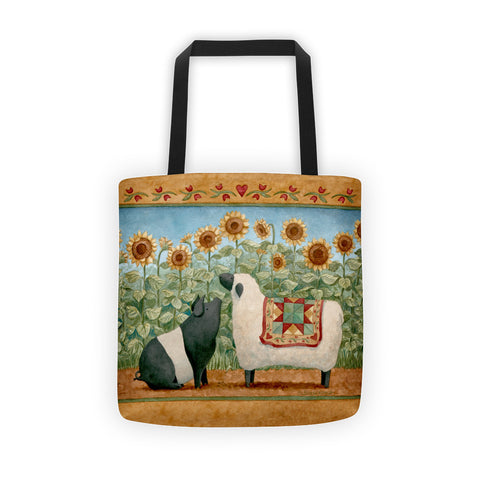 Sunflower Trail Tote bag - Creative Whims