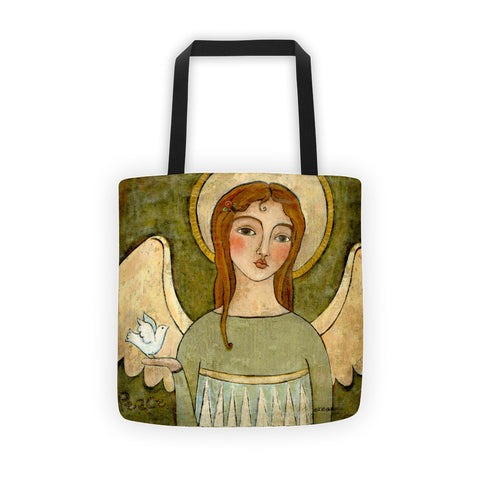 Angel of Peace Tote bag - Creative Whims