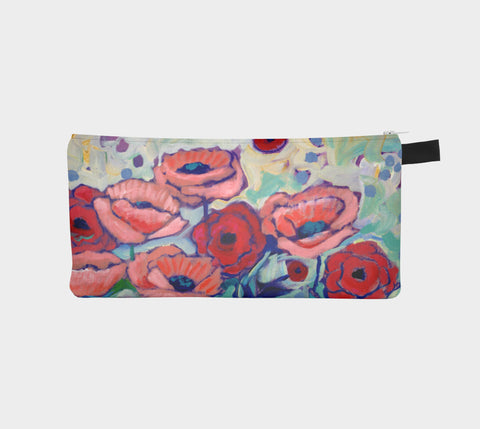 Pink Poppy Pencil Pouch - Creative Whims