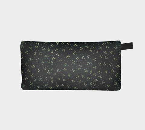 Green Leaves Pencil Pouch - Creative Whims