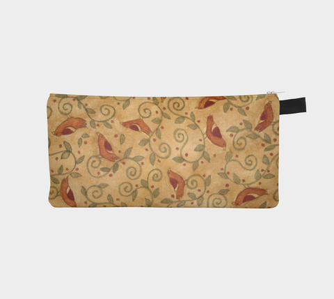 Folk Bird Pencil Pouch