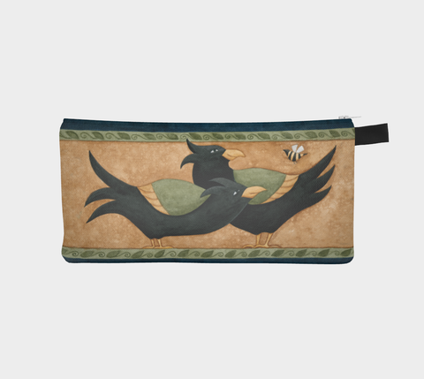 Sunflower Crow Pencil Pouch - Creative Whims