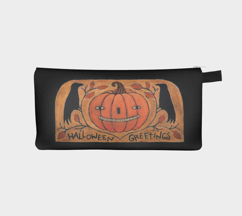 Halloween Greetings Pencil Pouch - Creative Whims
