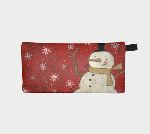 Primitive Snowman Pencil Pouch - Creative Whims
