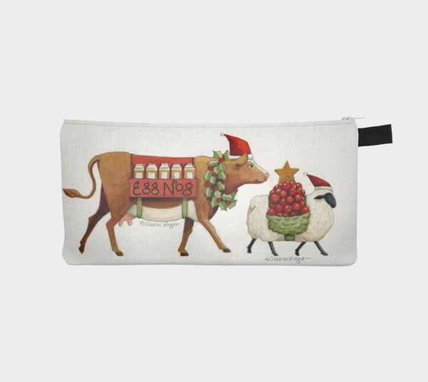 Eggnog and Ornaments pencil pouch - Creative Whims