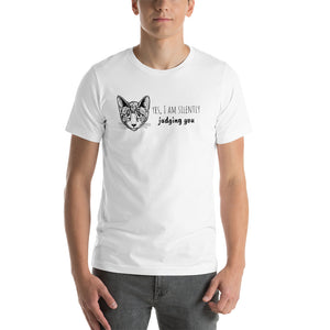 Yes I Am Silently Judging You Short-Sleeve Unisex T-Shirt