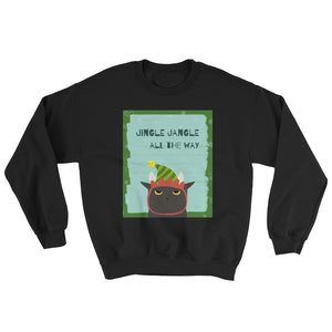 Jingle Jangle All The Way Christmas Cat Unisex Sweatshirt