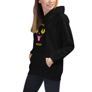 A Little Witchy Black Cat Kids Hoodie