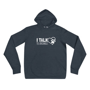 I Talk To Animals - Heart With Paw Print - Unisex Hoodie