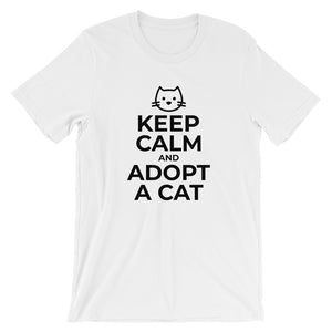 Keep Calm Adopt A Cat T-Shirt