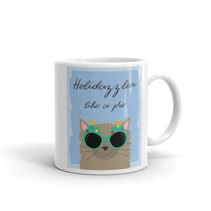 Holidazzlen Like A Pro Cat Mug