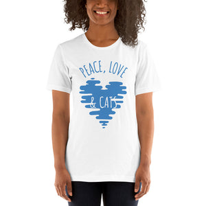 Peace Love and Cats Short-Sleeve Unisex T-Shirt