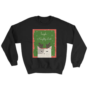 Hmph Naughty List Cat Christmas Sweatshirt