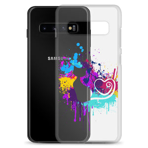 Artsy Cat - Paint Splotch - Heart Tail - Cat Samsung Phone Case