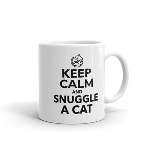 Keep Calm and Snuggle a Cat Mug