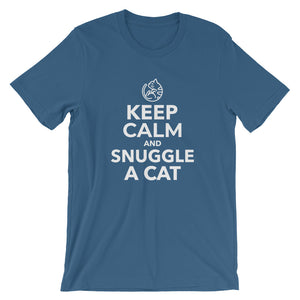 Keep Calm And Snuggle A Cat Short-Sleeve Unisex T-Shirt