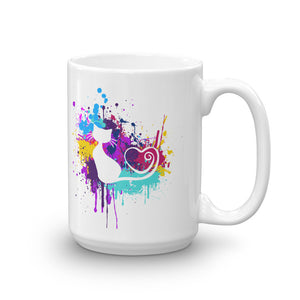 Artsy Cat - Paint Splotch - Heart Tail Cat Mug