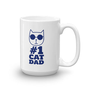 #1 Cat Dad Mug - Printed On Both Sides