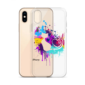 Artsy Cat - Paint Splotch - Heart Tail - Cat iPhone Case