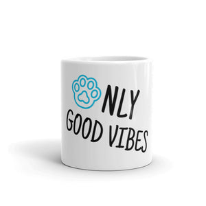 Only Good Vibes Paw Print Mug