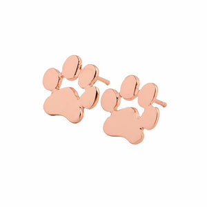Cute Paw Print Stud Earrings For Cat People