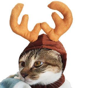 Reindeer Antlers Cat Hat - Cat Christmas Costume - Cat Dress Up Clothes