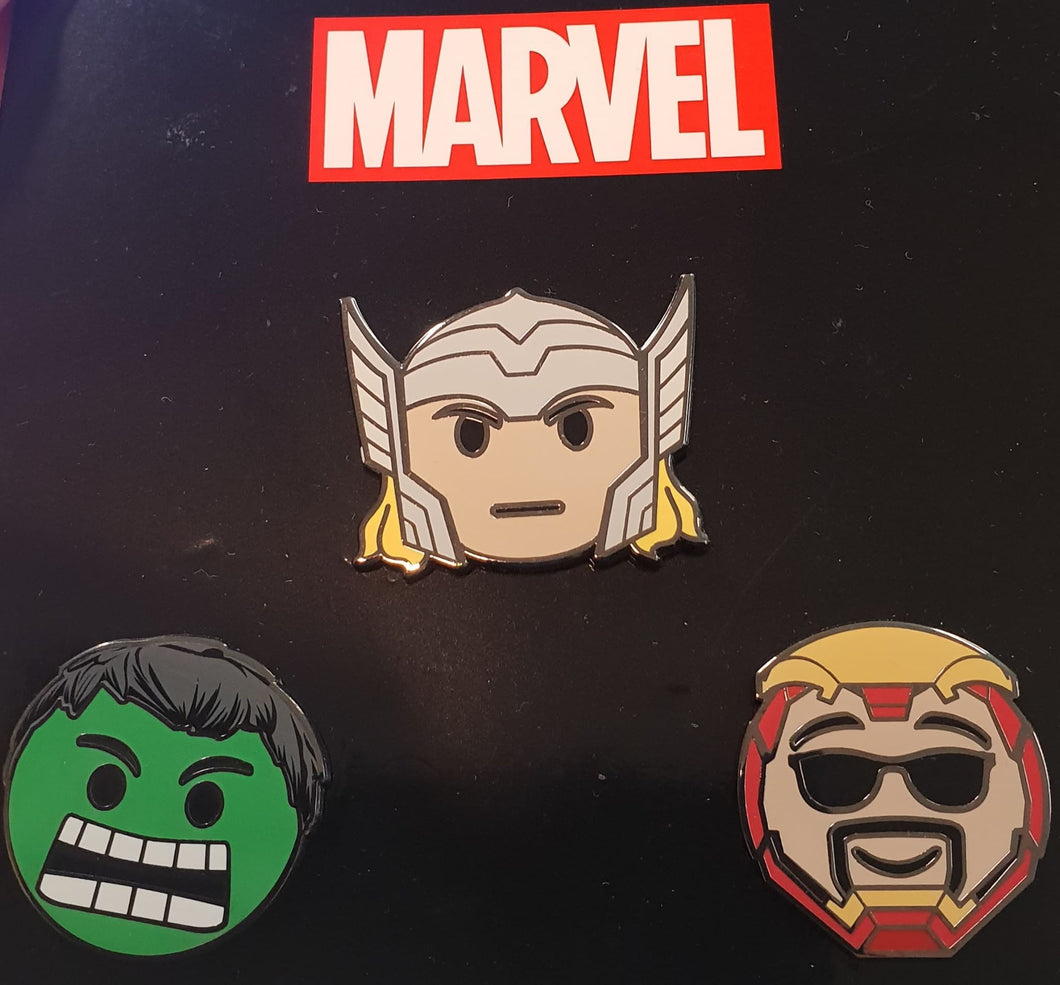 Avengers Emoji Pin Set
