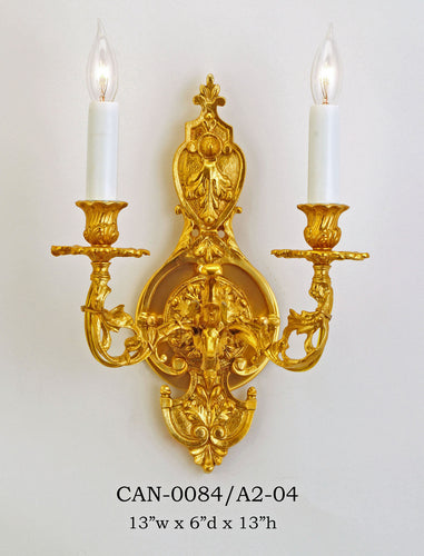 Brass Sconce - CAN-0084/A2-04Sconce - Graham's Lighting Memphis, TN