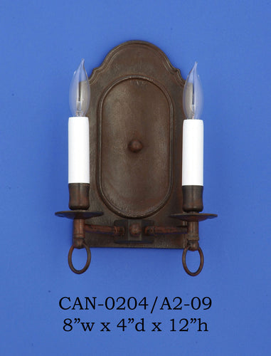 Brass Sconce - CAN-0204/A2-09Sconce - Graham's Lighting Memphis, TN