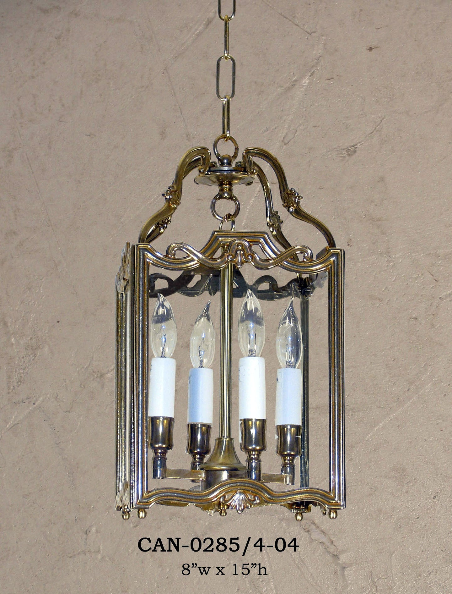 Brass Lantern and Pendant - CAN-0285/4-04Pendant - Graham's Lighting Memphis, TN