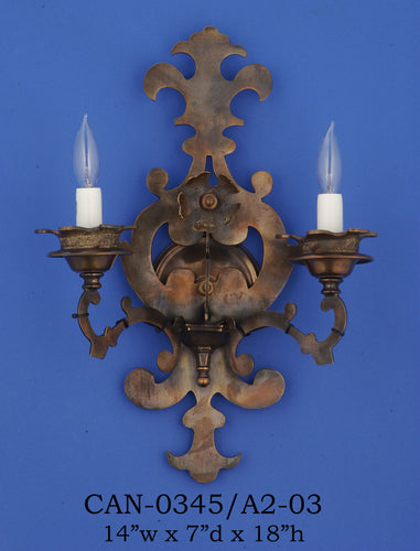 Brass Sconce - CAN-0345/A2-03Sconce - Graham's Lighting Memphis, TN