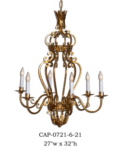 Other Metal Chandelier - CAP-0721/6-21Chandelier - Graham's Lighting Memphis, TN