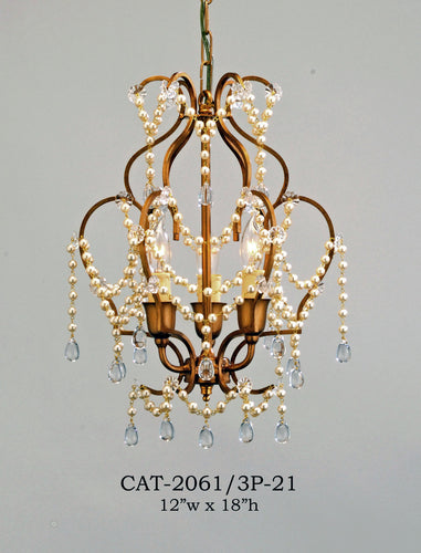 Other Metal Chandelier - CAT-2061/3P-21Chandelier - Graham's Lighting Memphis, TN