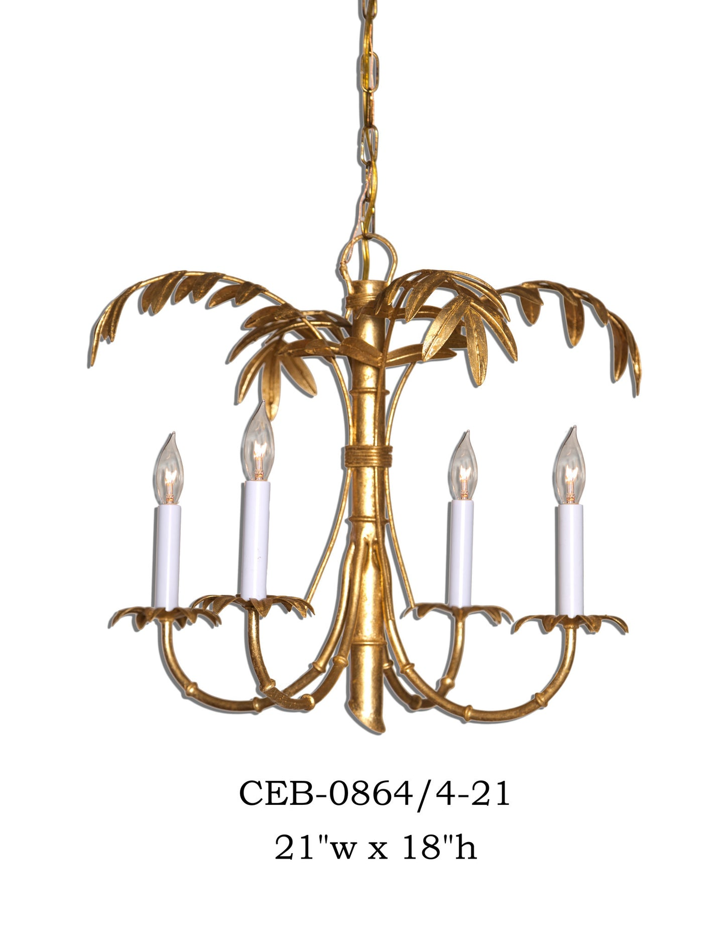 Other Metal Chandelier - CEB-0864/4-21Chandelier - Graham's Lighting Memphis, TN