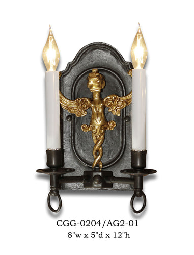 Other Metal Sconce - CGG-0204/AG2-01Sconce - Graham's Lighting Memphis, TN