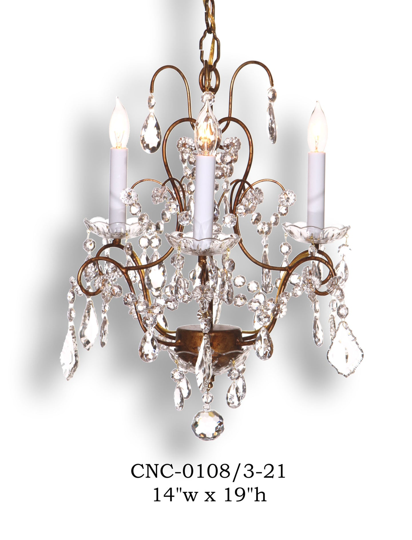 Crystal Chandelier - CNC-0108/3-21Chandelier - Graham's Lighting Memphis, TN